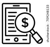 financial research vector icon | Shutterstock .eps vector #709248133
