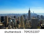 aerial top view of new york... | Shutterstock . vector #709252207