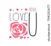 love u logo template original...   Shutterstock .eps vector #709252477