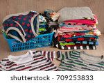 children's clothing made of... | Shutterstock . vector #709253833