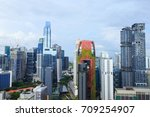 cityscape view of singapore city | Shutterstock . vector #709254907