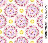 colorful modern vector pattern... | Shutterstock .eps vector #709260997