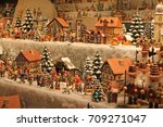christmas decoration for sale... | Shutterstock . vector #709271047