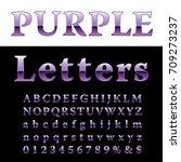purple alphabet  fat purple...   Shutterstock .eps vector #709273237