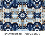 beadwork with ornament. ethnic... | Shutterstock .eps vector #709281577