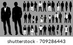 silhouettes of people | Shutterstock . vector #709286443