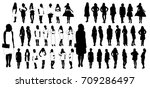 isolated silhouettes set of... | Shutterstock . vector #709286497