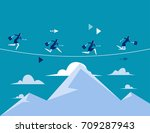 business people running over...   Shutterstock .eps vector #709287943
