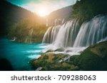 jiulong waterfall  nine dragon...   Shutterstock . vector #709288063