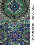 detail decorative of hassan ii...   Shutterstock . vector #709297237