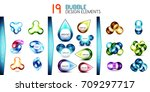 mega collection of bubble... | Shutterstock .eps vector #709297717