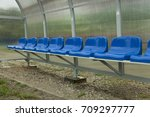 reserve and staff coach bench...   Shutterstock . vector #709297777