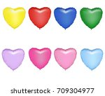 a set of multicolored foil... | Shutterstock .eps vector #709304977