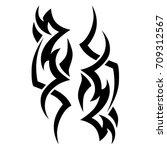 tribal tattoo art designs.... | Shutterstock .eps vector #709312567