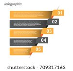 info graphic design template.... | Shutterstock .eps vector #709317163