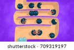 intestines with gut bacteria ... | Shutterstock . vector #709319197