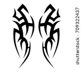 tribal tattoo art designs.... | Shutterstock .eps vector #709322437