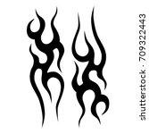 tattoo tribal vector design.... | Shutterstock .eps vector #709322443