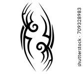 tribal tattoo art designs.... | Shutterstock .eps vector #709328983
