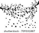 black maples falling background   Shutterstock .eps vector #709331887