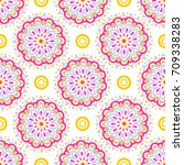 colorful modern pattern with... | Shutterstock . vector #709338283