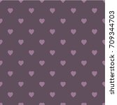 pattern with hearts. flat...   Shutterstock .eps vector #709344703