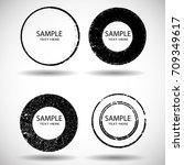 vector frames. circle for image.... | Shutterstock .eps vector #709349617