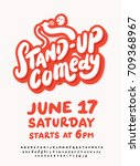 stand up comedy. poster... | Shutterstock .eps vector #709368967