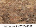 brick wall texture grunge... | Shutterstock . vector #709369597