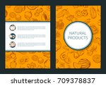 vector doodle handdrawn fruits... | Shutterstock .eps vector #709378837