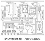 beer brewery production process.... | Shutterstock .eps vector #709393003