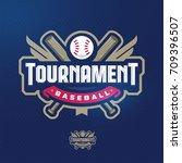 modern professional baseball... | Shutterstock .eps vector #709396507