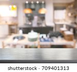 table top blur dining room of... | Shutterstock . vector #709401313
