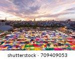 night market in bangkok thailand | Shutterstock . vector #709409053