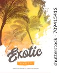 summer party poster or flyer... | Shutterstock .eps vector #709415413