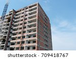 modern new high rise apartments ... | Shutterstock . vector #709418767