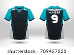 blue and black layout football... | Shutterstock .eps vector #709427323