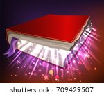 book with magic powers | Shutterstock .eps vector #709429507
