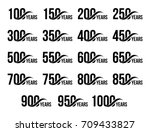isolated black color numbers... | Shutterstock .eps vector #709433827