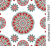 seamless tiling vector texture... | Shutterstock .eps vector #709447537