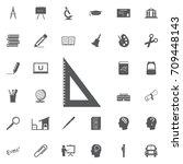 triangular ruler icon.... | Shutterstock .eps vector #709448143