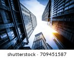 look up to the sky with... | Shutterstock . vector #709451587