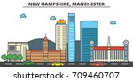 new hampshire  manchester.city... | Shutterstock .eps vector #709460707