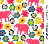 cute seamless pattern with...   Shutterstock .eps vector #709460797