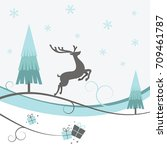a christmas design with... | Shutterstock .eps vector #709461787