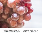 bunches of fresh ripe red... | Shutterstock . vector #709473097