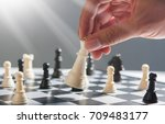 playing chess | Shutterstock . vector #709483177