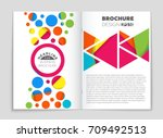 abstract vector layout... | Shutterstock .eps vector #709492513