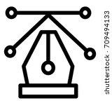 bezier line vector icon