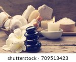 spa aromatherapy products on... | Shutterstock . vector #709513423
